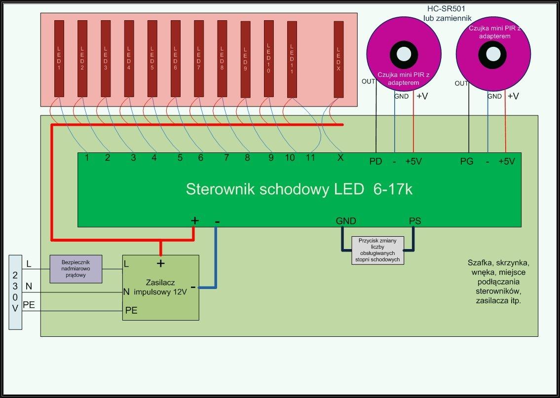 03 schemat schodowy 8 17 miniPIR adapter